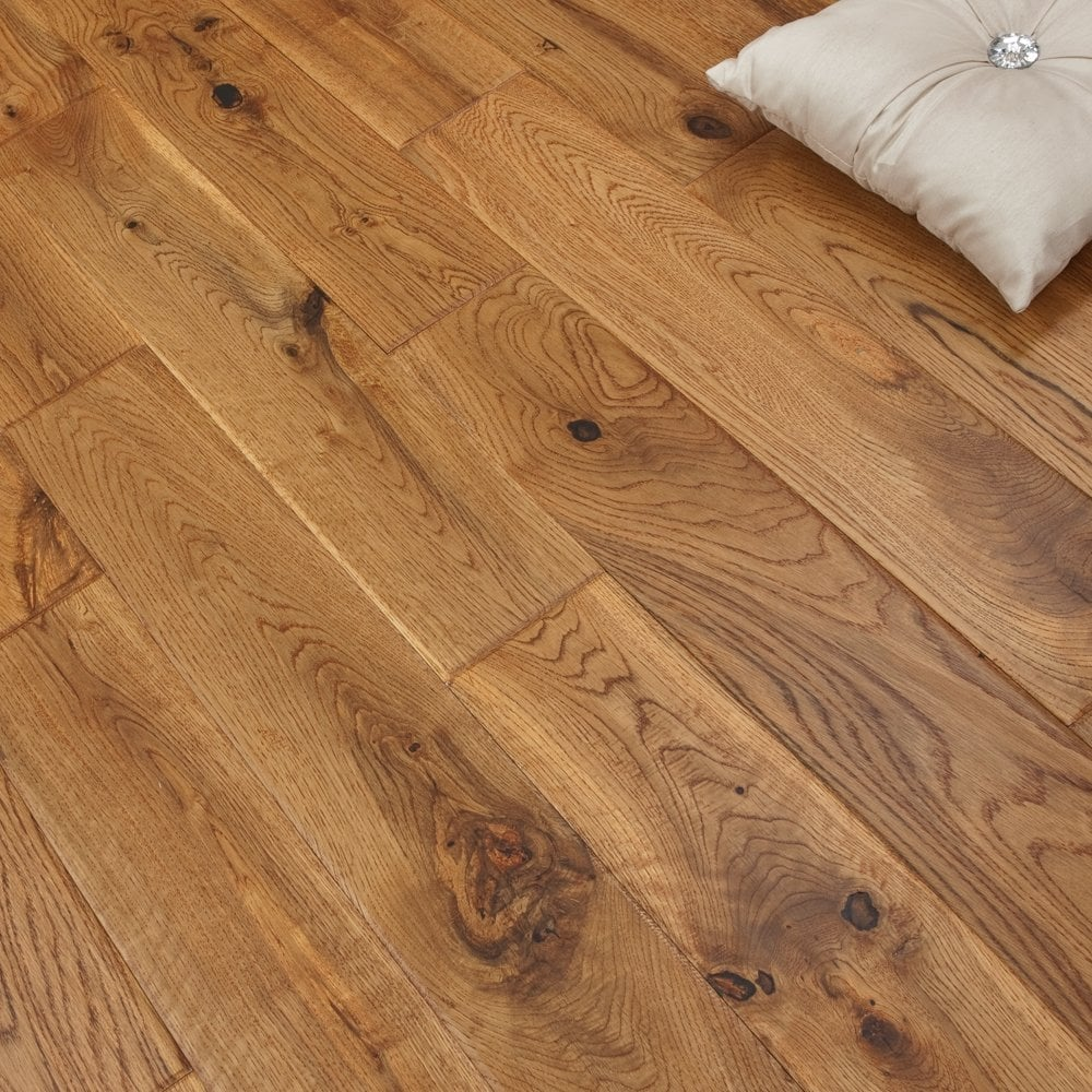 platinum series solid oak flooring 18mm x 120mm hand scraped uv vintage OLRNWFP