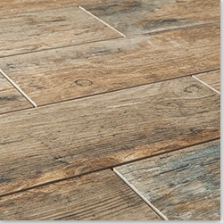 porcelain tile flooring porcelain tile - redwood series - natural / 6 HXYRFGL