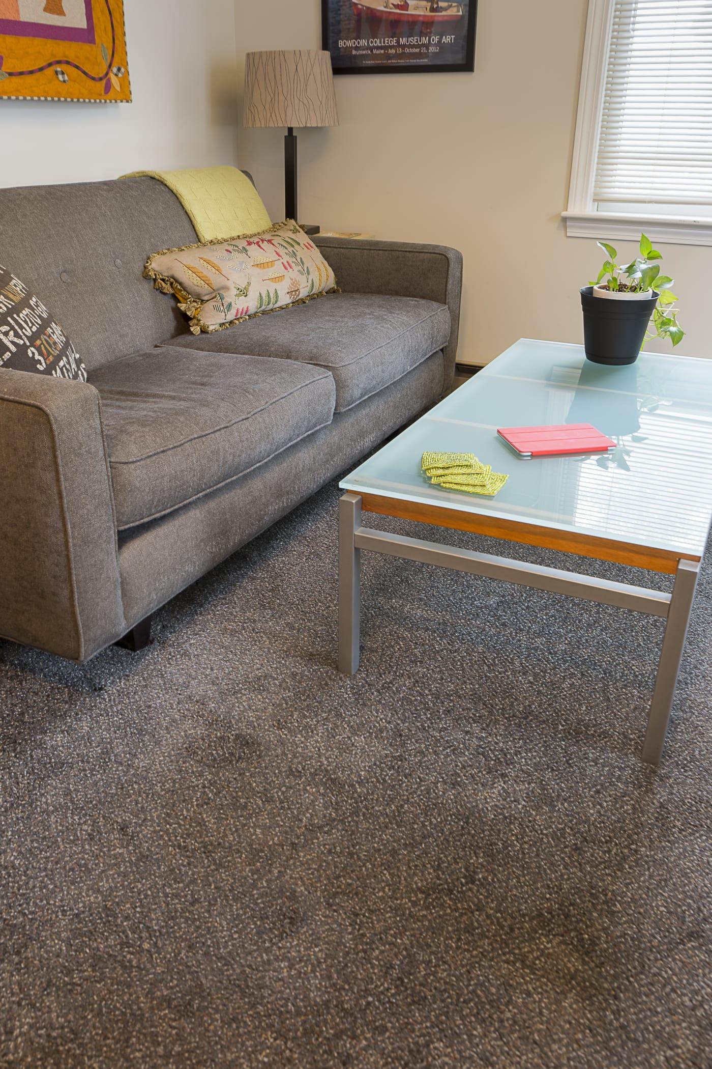 portland condo living, den, wall to wall carpet, plush, browns, shaw AQKLVWF