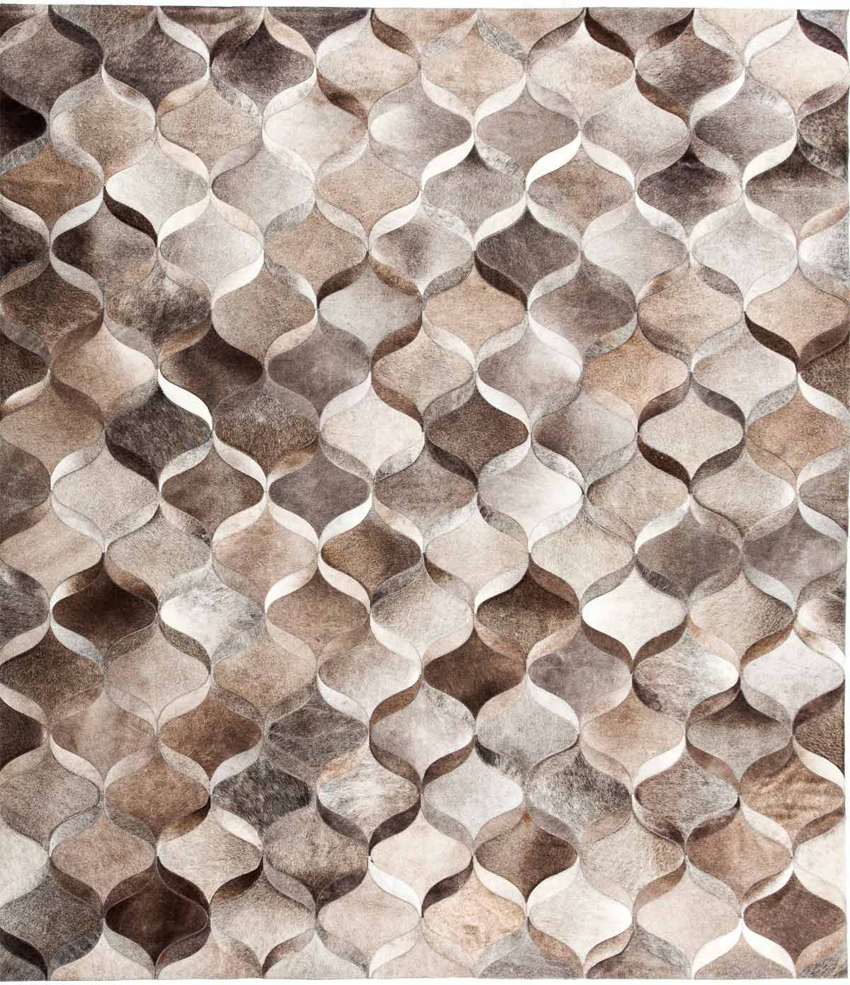 premium leather hide rugs gallery: wave, modern leather rug, made in  argentina; BTPUSAS