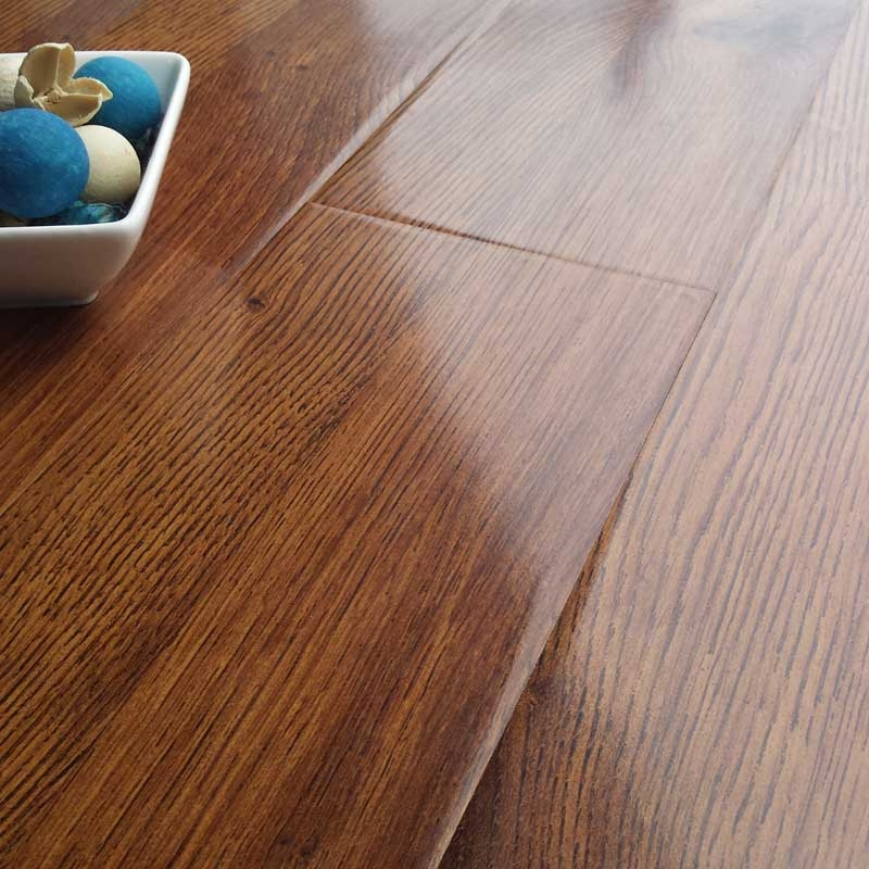 prestige gloss royal oak 8mm v-groove laminate flooring EPBHGEB