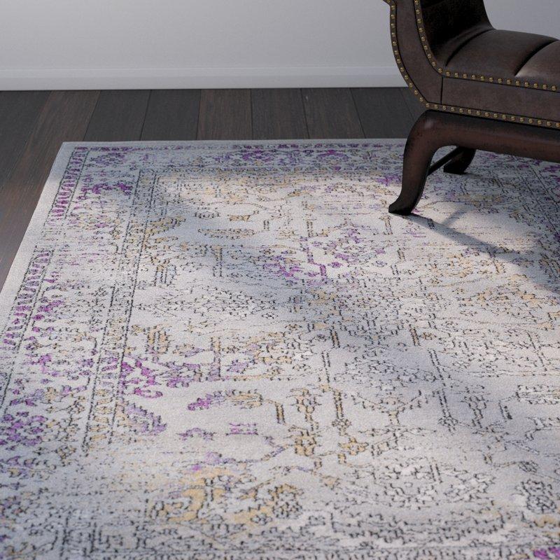 Purple area rug cassian taupe/bright purple area rug ESPYVZN