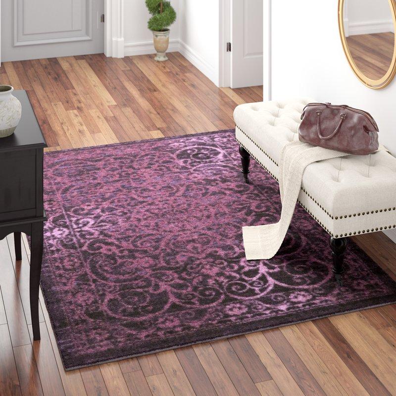 Purple area rug landen purple area rug ELPSNUT