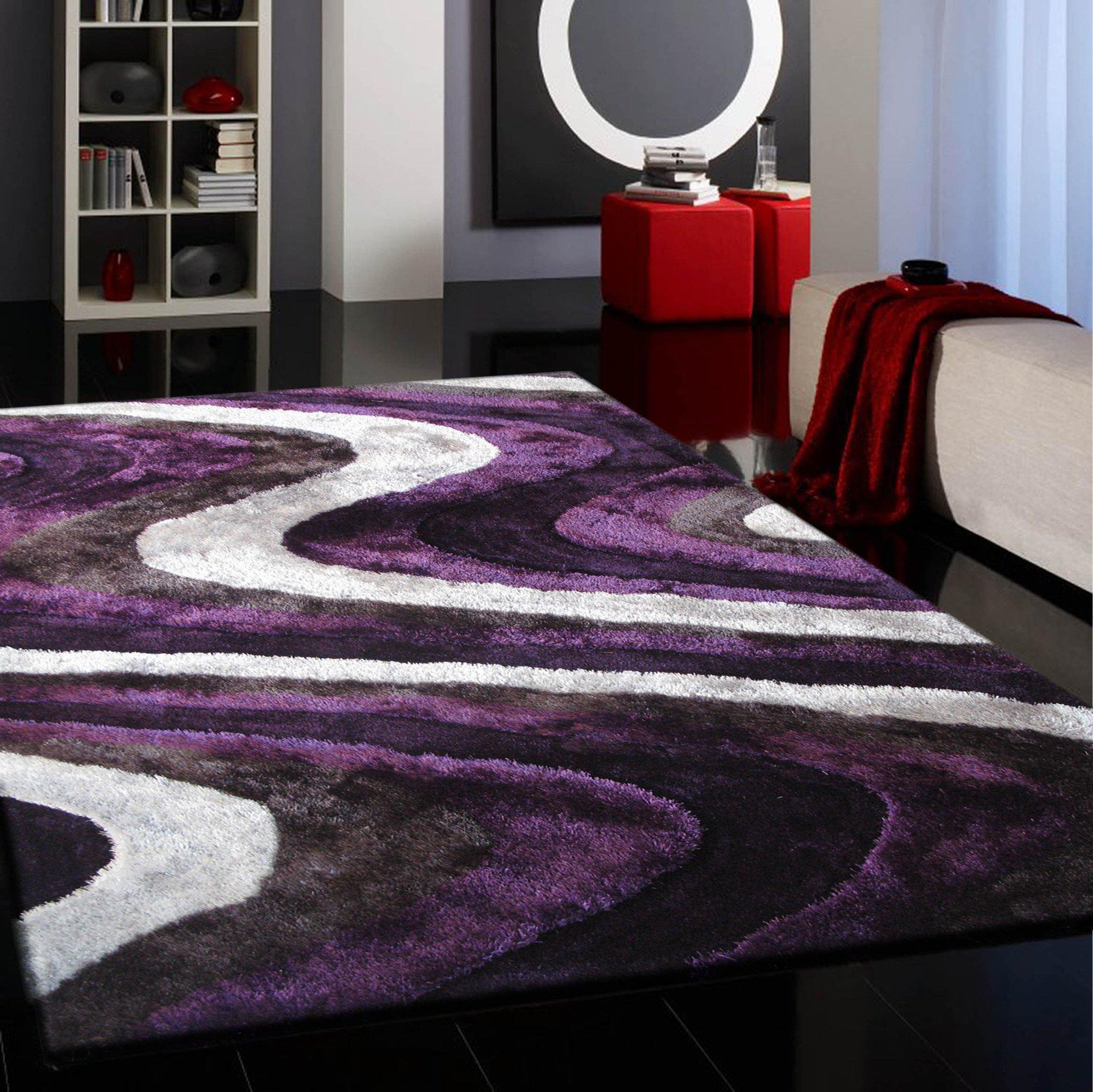 Purple area rug for enhancing spirituality
