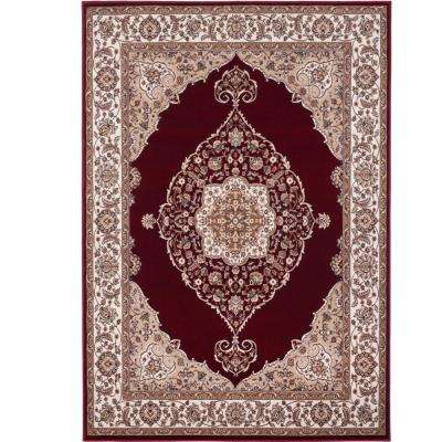 Red area rug bazaar emy red/ivory ... RHGYCRT