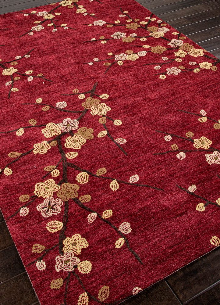 Red area rug red area rug with spring pattern USCDQVK