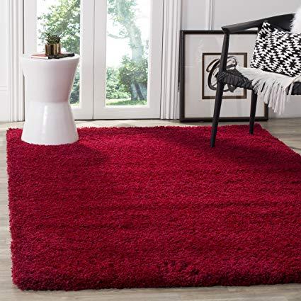 Red area rug safavieh california premium shag collection sg151-4040 red area rug (8u0027 x 10 QUEVSTT