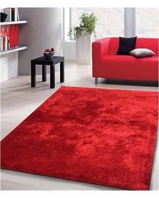 Red area rug shag solid red area rug (5u0027 x 7u0027) (5x7) SZONJVJ