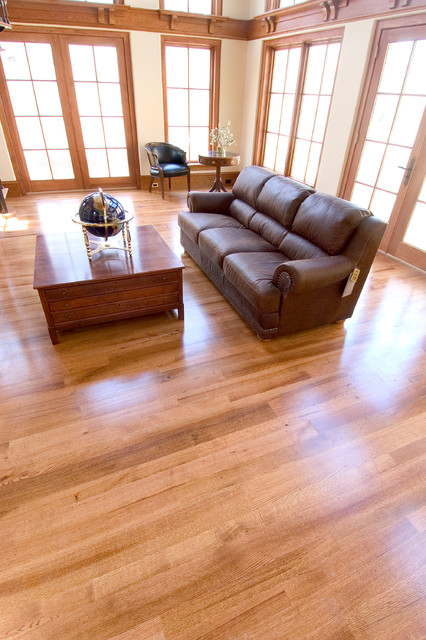 red oak flooring modern-living-room TFTCUBL