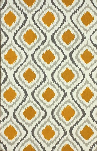 Retro rugs retro garden orange and grey polyester area rug CTWOAAA