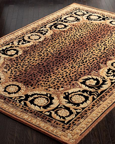roman leopard rug, 4u0027 round ZQFITKE
