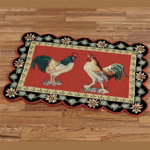 Rooster rugs barnyard rooster rectangle rug RERTXUW
