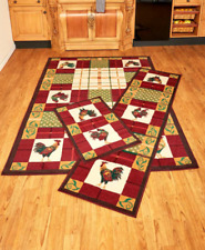 Rooster rugs rooster kitchen decor living room area rug runners country home accent red PIGAHIK