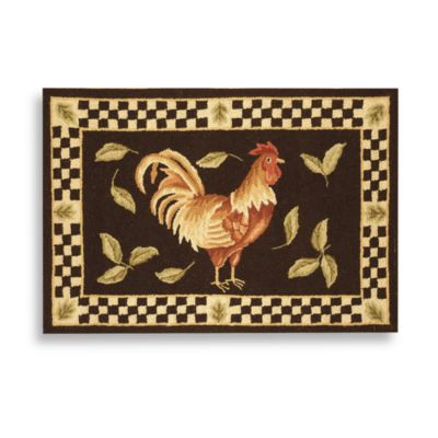 Rooster rugs safavieh vintage rooster poster 1-foot 8-inch x 2-foot 6- LLVBTIQ