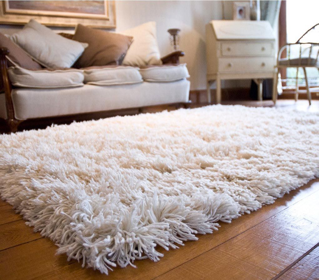 Rug carpet white fuzzy area rug DVUVKFQ