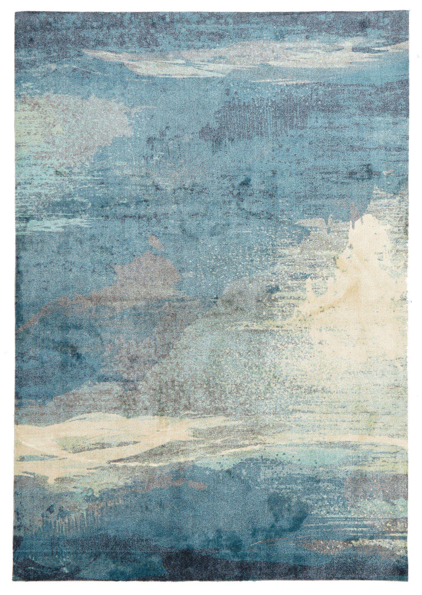 rugs - leon 563 blue modern rug ... FCYOYCB