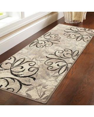 runner rugs and gardens iron fleur runner rug EDMGMLN