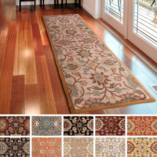 runner rugs hand-tufted patchway wool area rug - 2u00276 ... PJRSBLC