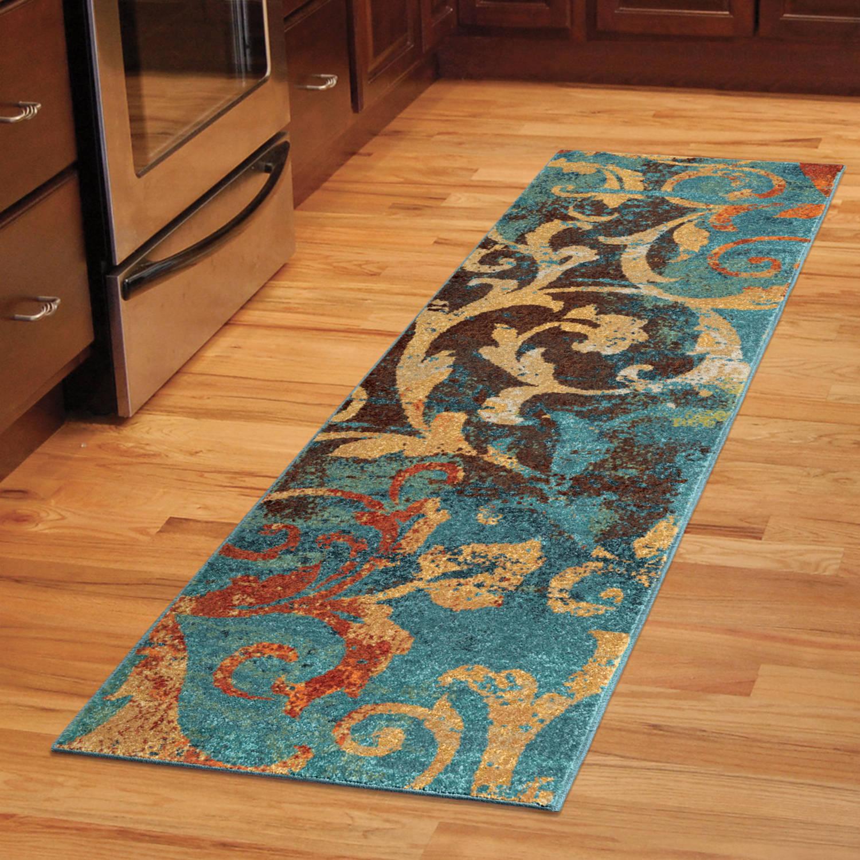runner rugs orian-rugs-watercolor-scroll-multi-colored-area-rug- LNBINZC