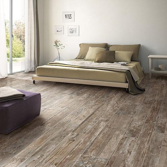 Rustic wood floor tile indoor tile / floor / porcelain stoneware / patterned ... NWOWAAV