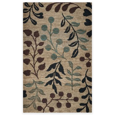 scatter rugs rizzy home 3-foot x 5-foot floral branches area rug in natural ZOAPAXG