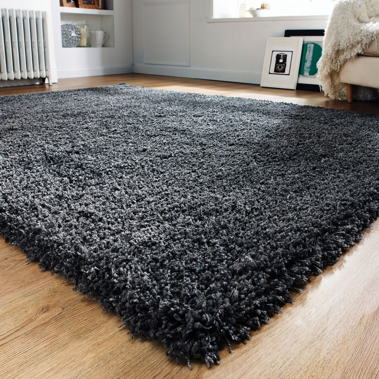 shaggy rugs 1a1 - dark grey shaggy rug RTXHJLV