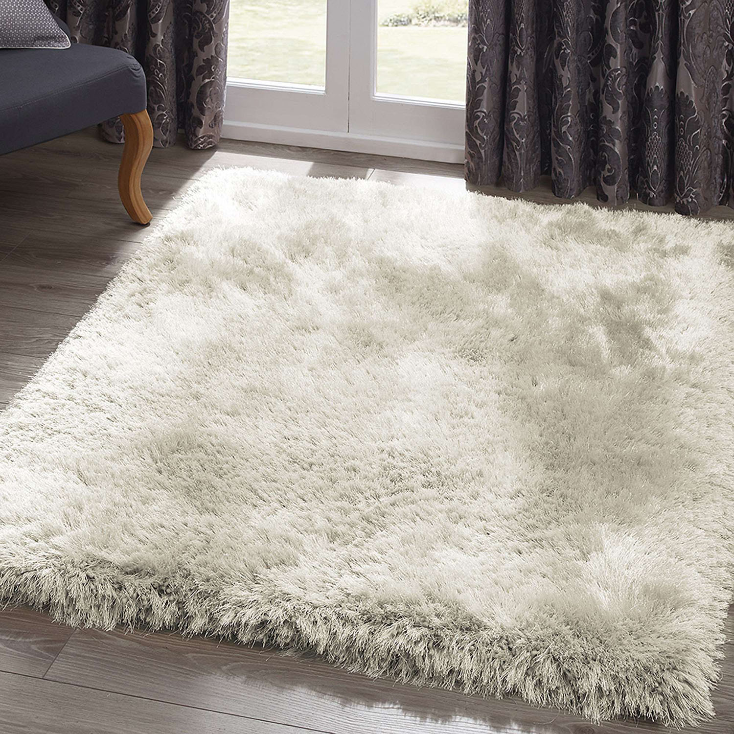 shaggy rugs send to a friend : jewel shaggy rug in ivory NIEQTTV