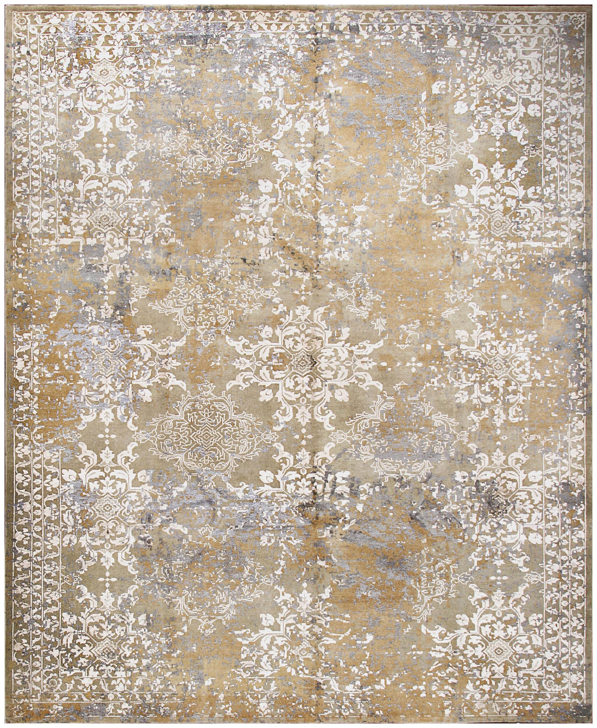 silk rug texture designer reserve gold hand knotted wool u0026 silk rug 19072 PBZCIQL
