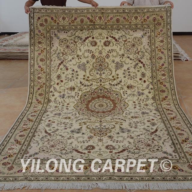 silk rugs yilong 6u0027x9u0027 oriental hand knitted wool carpet exquisite persian wool silk  rugs XAJSHAC