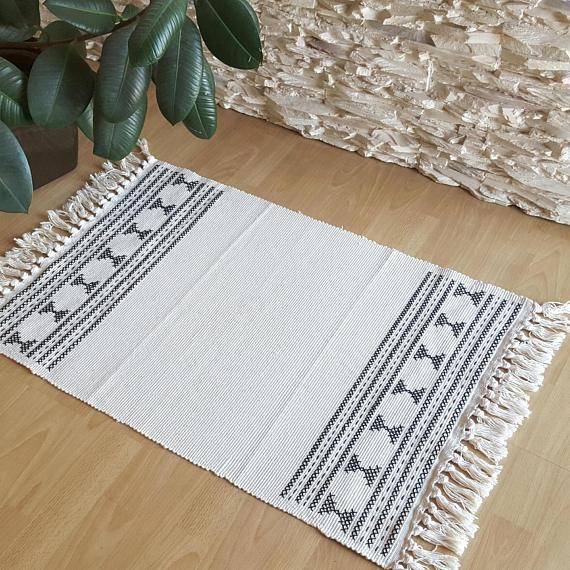 small area rugs boho rug small area rug black and cream rug tassels rug YLJUCOG