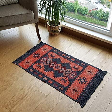 small area rugs modern bohemian style small area rug, 2 x 3 feet, washable, natural dye CELXTMR