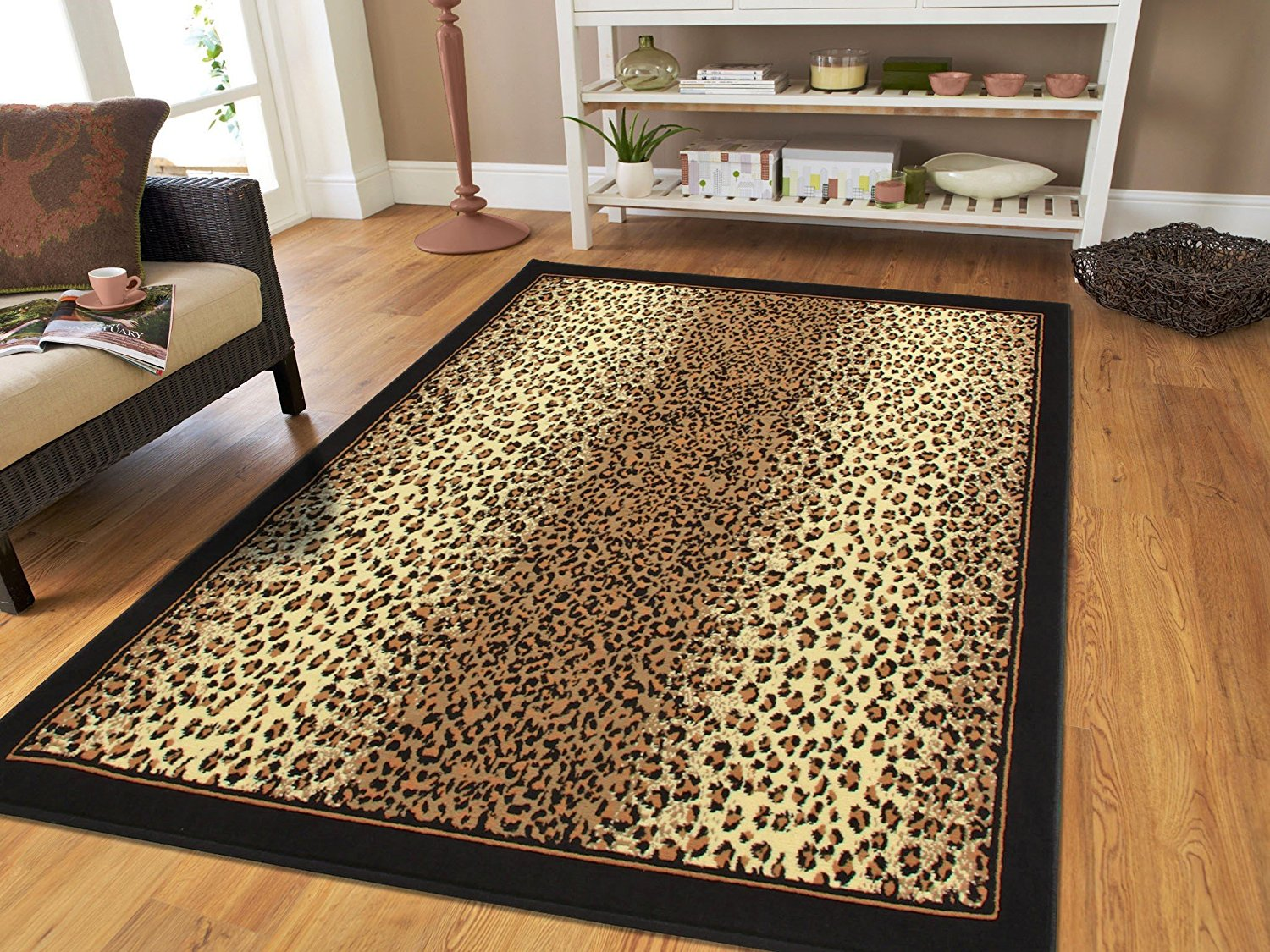 small rugs amazon.com: brown checkered cheetah rug animal long 2x8 runner rug for  hallway TAPRBNS
