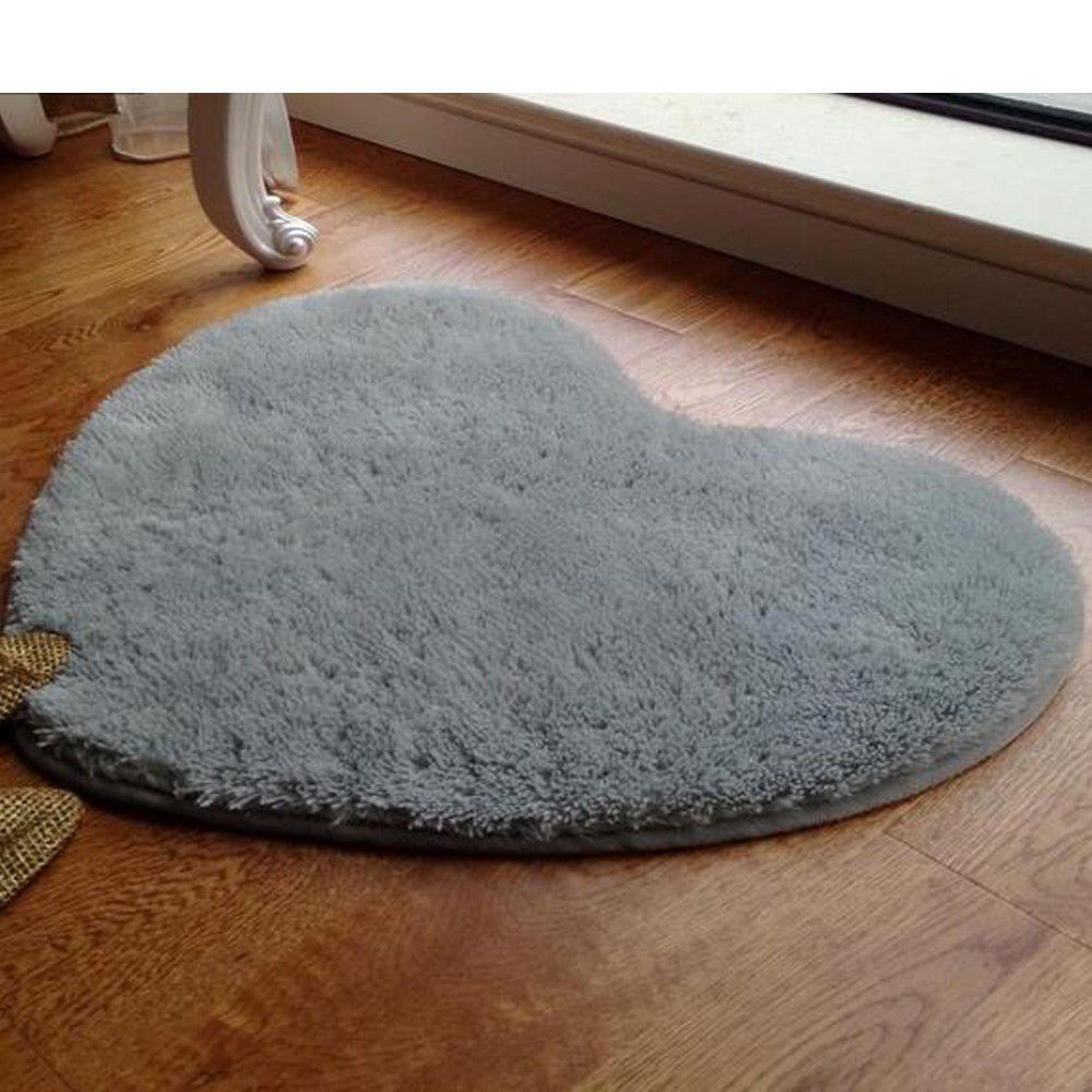 small rugs home small rug heart fluffy anti skid rug room bedroom carpet floor mat JVQUKMT