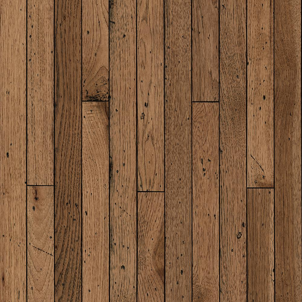 solid hardwood floor vintage farm hickory antique timbers 3/4 in. x 2-1/4 PSFNGMH