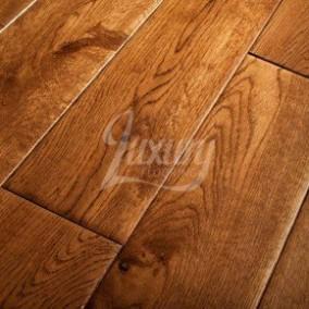 solid oak flooring 125mm golden hand scraped solid european oak wood flooring, 18mm thick ILZNGSE