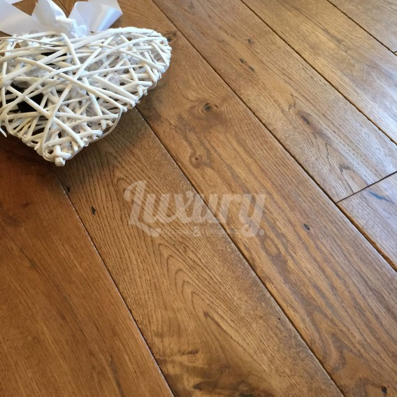 solid oak wood flooring 125mm golden brushed and oiled hand scraped solid european oak wood flooring, UYZVIPY