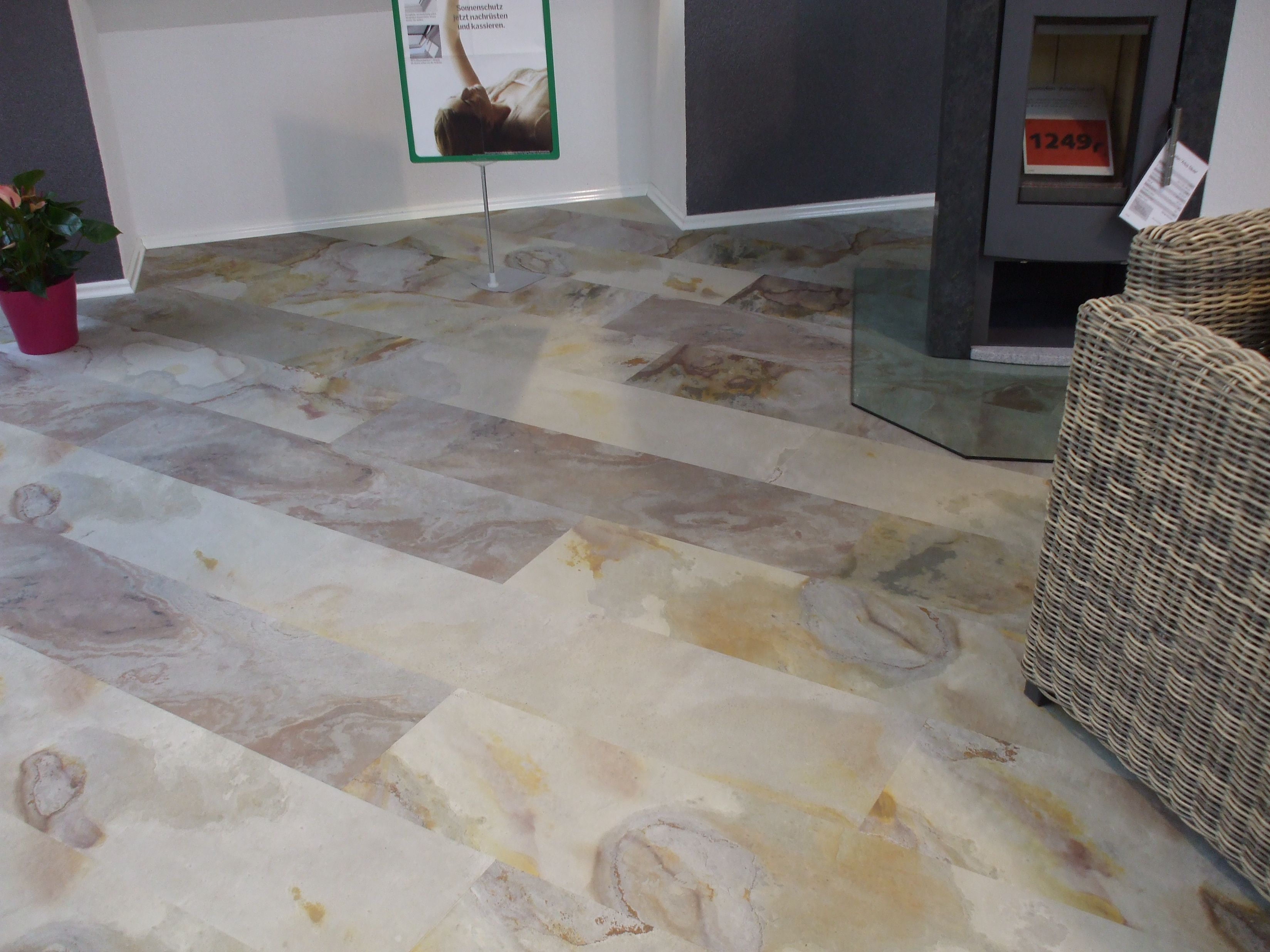 Solid stone floors in rosettau0027s efforts to produce a stone flooring which is warm to the KVSZRES