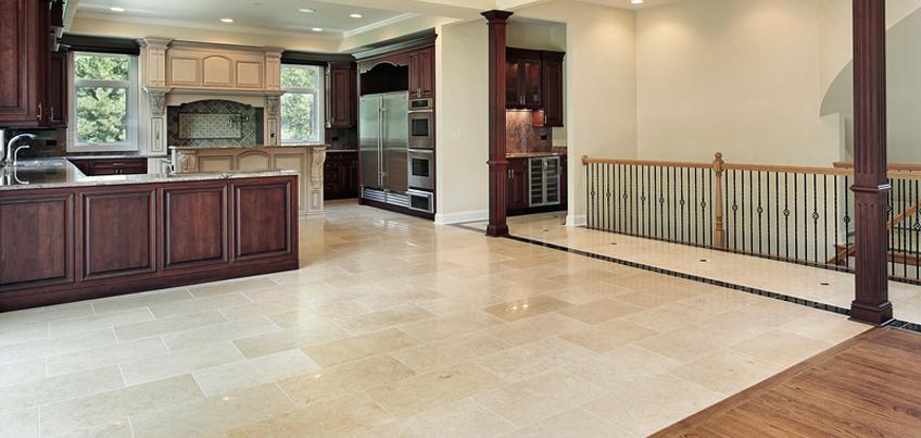 Solid stone floors stone tile kitchen floor google search floors plus elegant kitchen concept SQQVGII