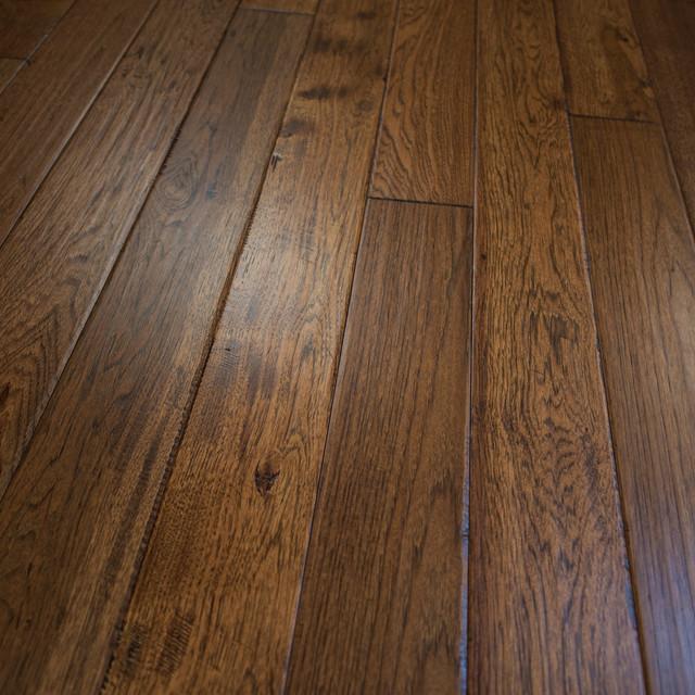 Solid wood floors hickory hand scraped prefinished solid wood flooring, sample VGAUNMK
