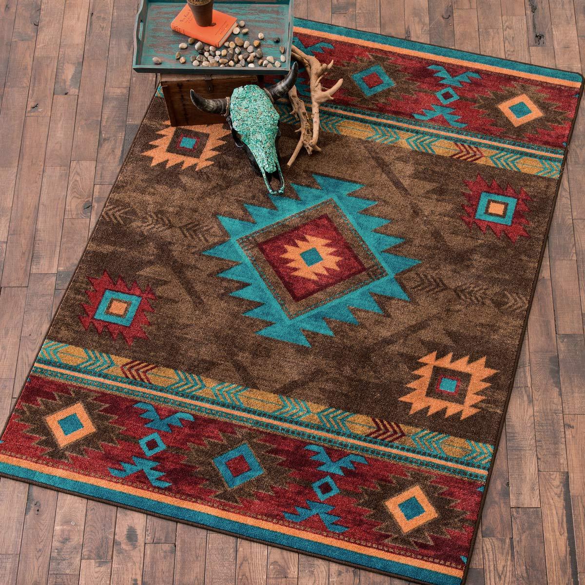 southwestern rugs southwest rugs: 3 x 4 whiskey river turquoise rug|lone star western decor NIFLDDV