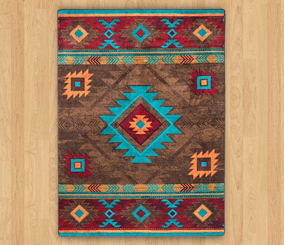 southwestern rugs whiskey river - turquoise ... PMLHYUZ