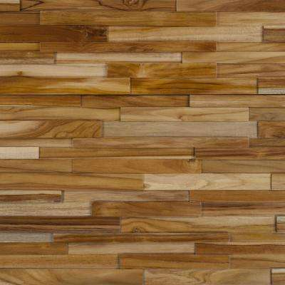 teak flooring take home sample - deco strips cider engineered hardwood wall strips - 5 YPDBXMS