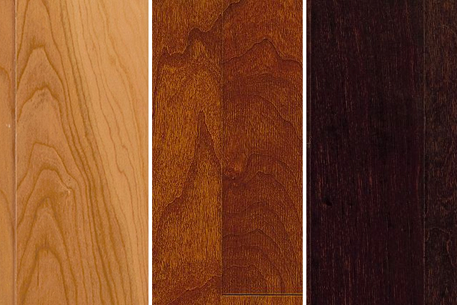 three cherry wood flooring color options TEYNGUA