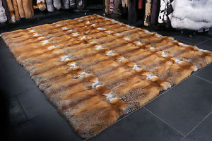 throw rug image is loading 1560-canadian-redfox-carpet-genuine-fur-rug-red- BZQEMHX