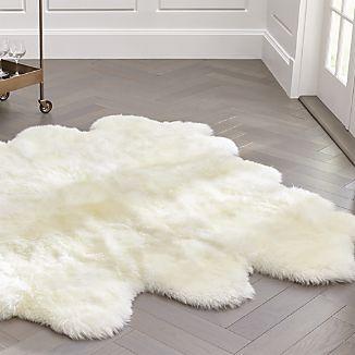 throw rug ivory sheepskin throw/rug ... ULEHPRW