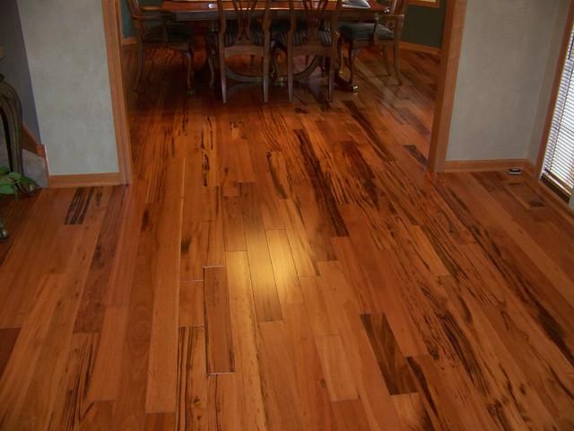 tiger wood hardwood flooring tigerwood hardwood flooring traditional-family-room BHIZYKG