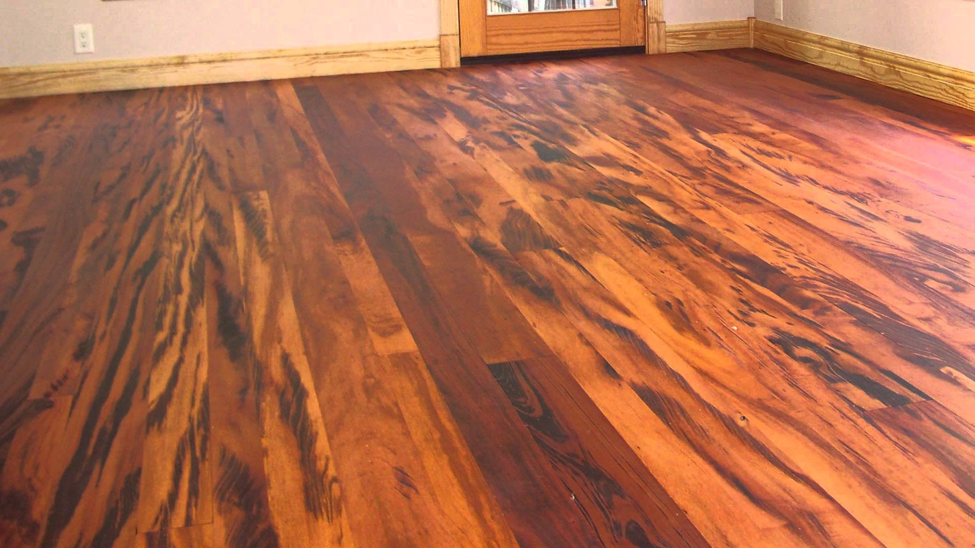 The exotic tiger wood flooring