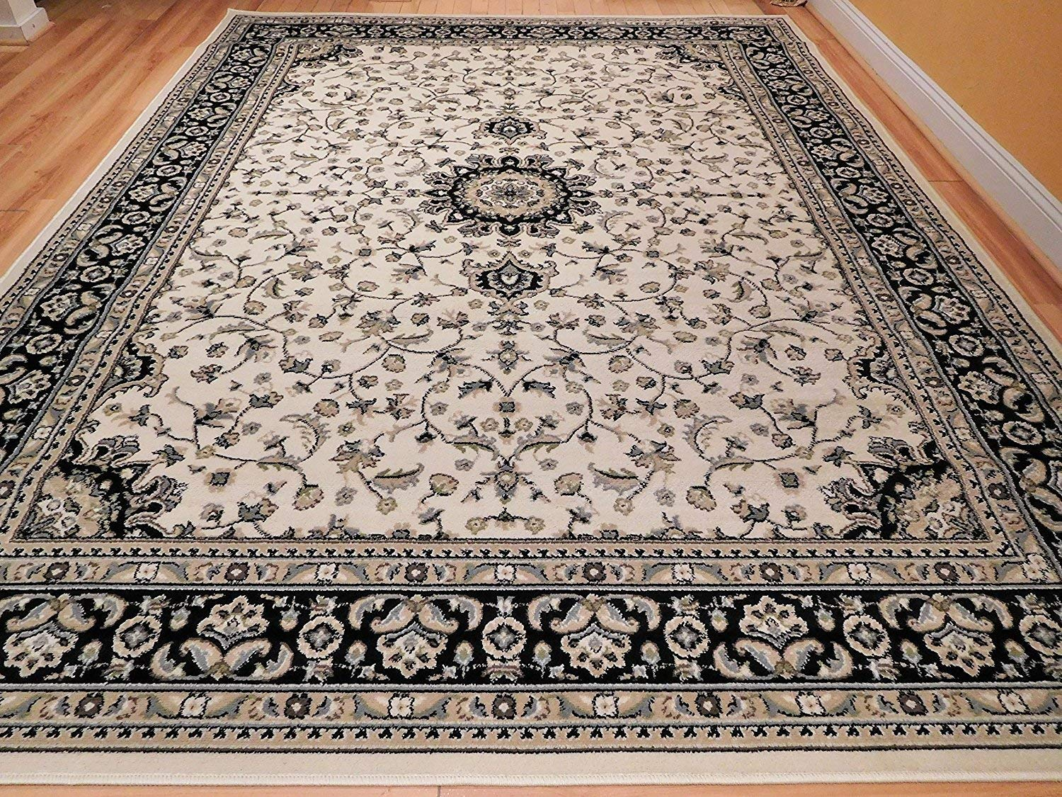 Traditional persian style rugs amazon.com: large 8x11 ivory persian traditional style rug oriental rugs  cream living BEDGUQP