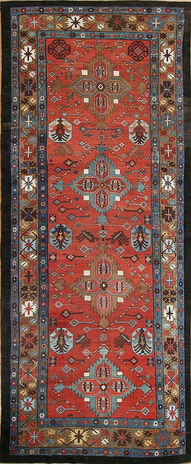 traditional rug patterns antique bakshaish rug, persia, late 19th century NNVNEGM