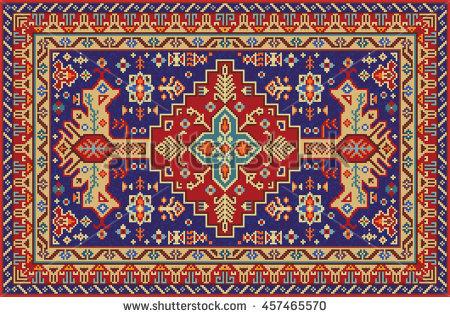 traditional rug patterns colorful mosaic rug with traditional folk geometric pattern. carpet border  frame pattern. XUTOMYU